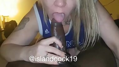 Toronto milf sucks every last drop out of a young bbc