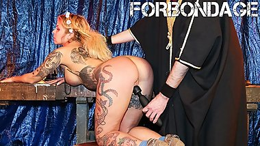 BadTimeStories - Busty MILF Fingered And Bound By Kinky Master - ForBondage