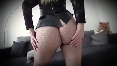 Step mom fucked through pantyhose by step son while she sleeps