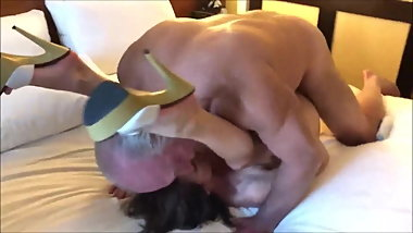 Swinger wife gets fucked by many multiple guys
