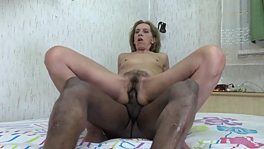 Euro Granny with very hairy pussy