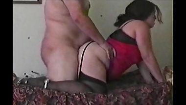 Milf in stockings fucked