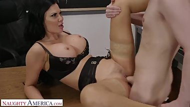Miss Miller (Jasmine) gets her pussy pounded in class