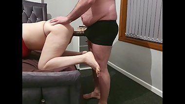 Step mom first anal fuck with step son using an 12 inch of dick