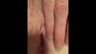 Jewish GILF Casually Masturbating Naked Showing Clit & Hairy Pink Pussy