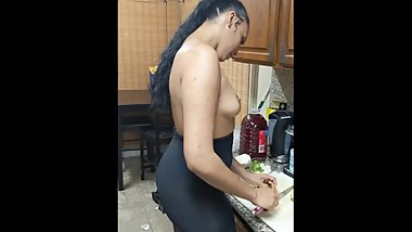 Yasmin Rose naked and cooking