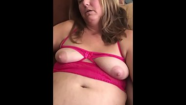 Chubby wife in panties fingered