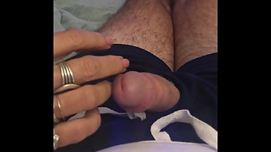 Gf playing with my penis