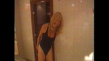 Goldie Hawn Black Swimsuit & Bum Cheeks