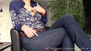 French MILF dirty talk for slave on Vends-ta-culotte