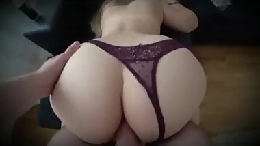 Stepmom anal fuck with stepson while dad in bed