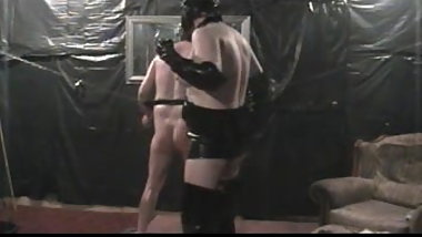 homemade   danni gives a whipping.