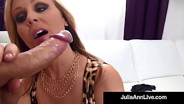 Dick Licking Milf Julia Ann Milks Cock In Her ...