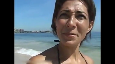 Sexy Brazilian MILF Sucks and Fucks