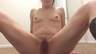 Old slut with long nipples and hairy cunt!