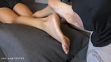 Mature feet saeda, foot worship and soles licking, foot fetish domination