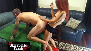 Pt 3/3 Amateur couple first time pegging + cumshot