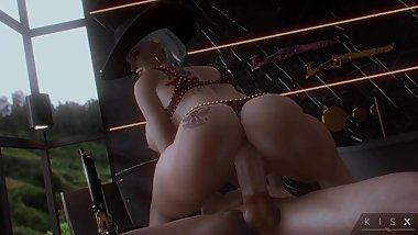 [3D ANIMATION] Ashe from Overwatch Riding a Huge Dick by KisX (w/SOUND)