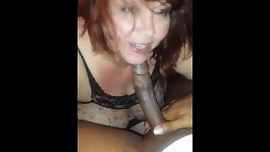 Nasty Older White Woman Sucking Off RANDOM BBC Part 2