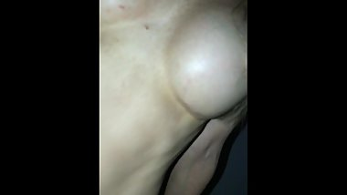 Super WET Aussie MILF with huge tits squirting bed SOAKED female orgasm