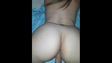 Tight pussy twerks HARD COCK before EXPLOSION CUM leaks from lil PUSSY LIPS