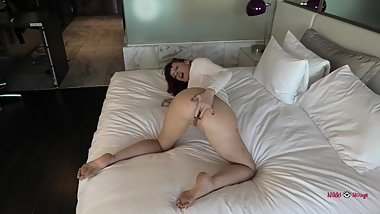 Butt fucked in a white bodysuit