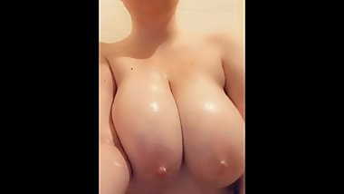 Soaping My Big Natural Tits for Onlyfans