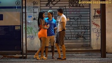 brazilian milf gets shared by her boyfriend and a stranger