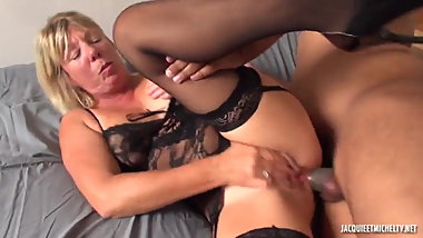 Blonde french milf anal