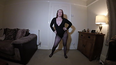 Black Leotard and Pantyhose