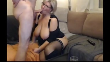 Shameless mature MILF with huge boobs gets rough used by her boss