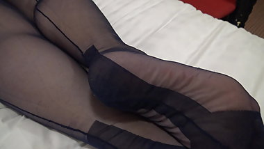 my lovely wifes sexy nylon legs and feet