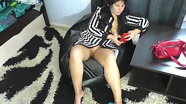 Son saw stepmom's pussy and wanted sex. stepmom son anal and blowjob