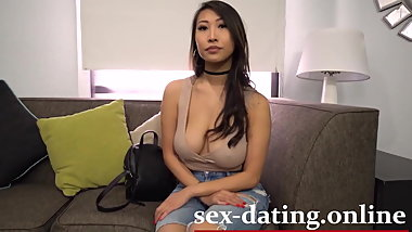 Ebony Fucks Asian Big Dick