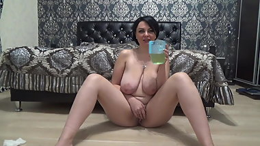 Russian big tits piss drink