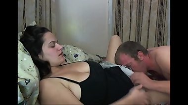 Sexy amateur wife with hairy pussy cheating on camera